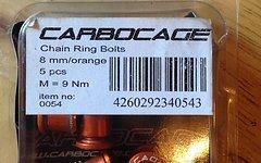Carbocage Kettenblattschrauben Alu orange 5St. 8mm