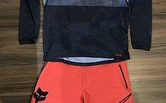 Fox Shorts+Jersey | S/30 | grey/salmon