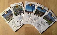5 X Bike-Explorer MTB Karten Schweiz von