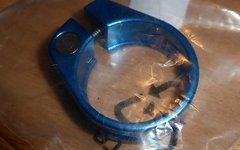 Sattelklemme 31,6mm blau Alu