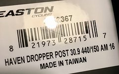 Easton Haven Dropper 440mm 30.9 neu