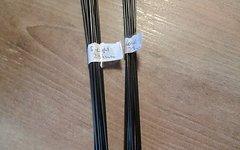 Sapim Speichen 16x Laser 296mm und 16x D-Light 294mm, schwarz incl. Alu Nippel