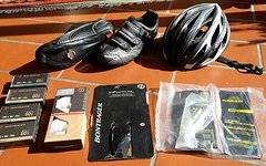 Quantec Race SL Rennrad RH 57cm + Komplettausrüstung: Schuhe / Helm / Teile