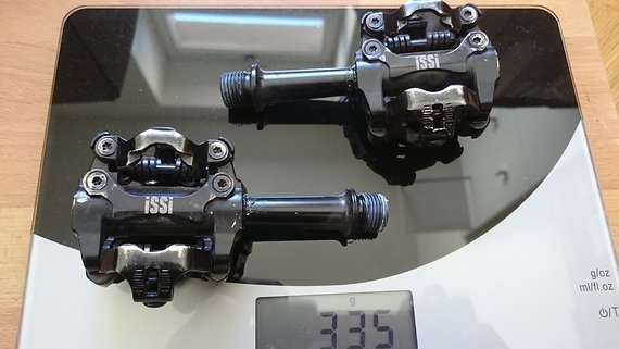 Issi Flash III Triple Bearing Pedal, + 12mm Achse - blackout