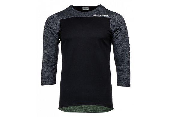 Troy Lee Designs Ruckus Jersey, Block Black/HTR Black L