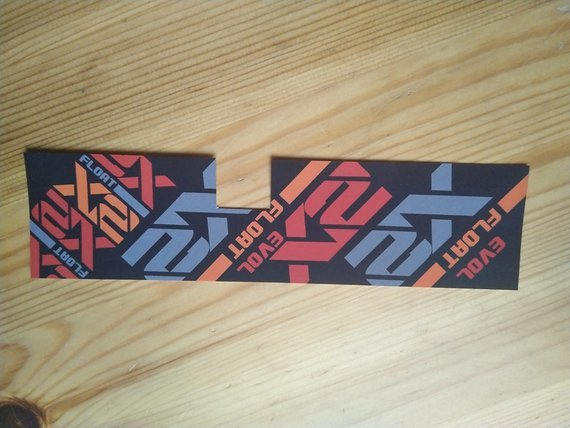 Fox X2 vinyl Sticker / Decal for 190x51mm, 200x51mm and 200x57mm shock RED / GREY / ORANGE