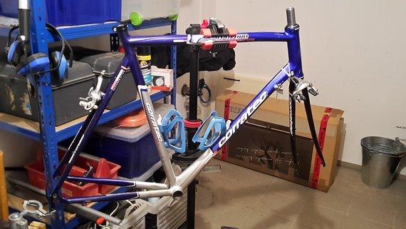 Corratec Rennrad-Rahmen, mit Gabel und Zubehör