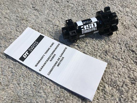 DT Swiss 350S Vorderrad Nabe 100x15mm Straight Pull *NEU*