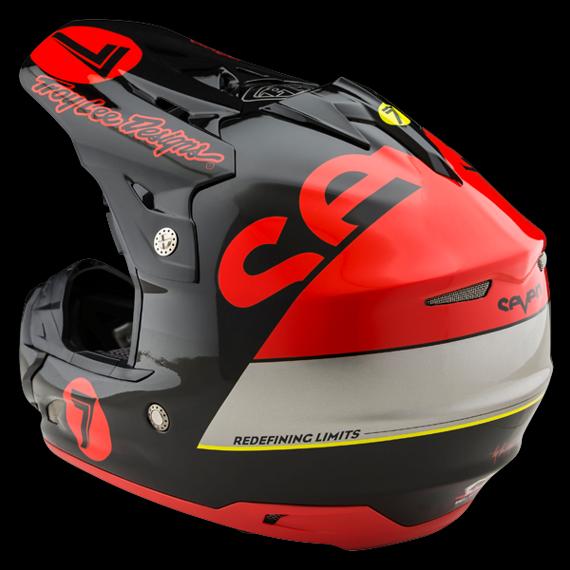 Troy Lee Designs Seven SE3 Fullface Helm Supra Red Gr. S *NEU*