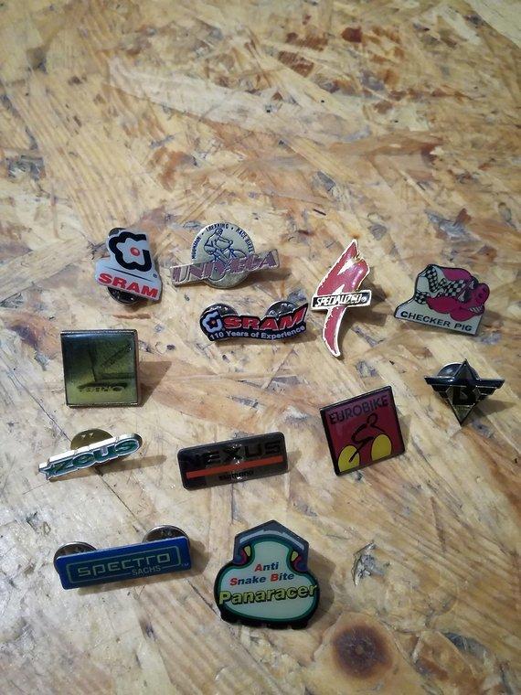 Verschiedene MTB Pins, Retro/Kult