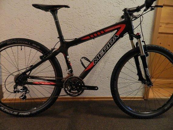 Merida Mountainbike,Carbon,XTR, Rockshox,tune,leicht 8,1 Kg