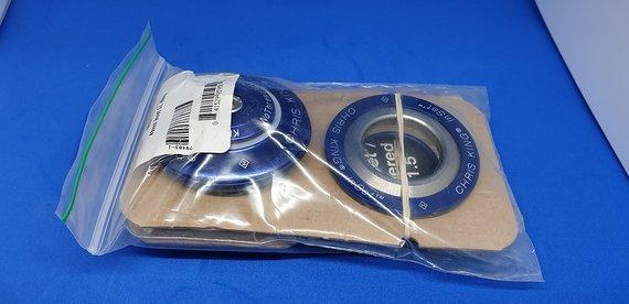 Chris King Headset Steuersatz Blau 50mm 1 1/8 Neu