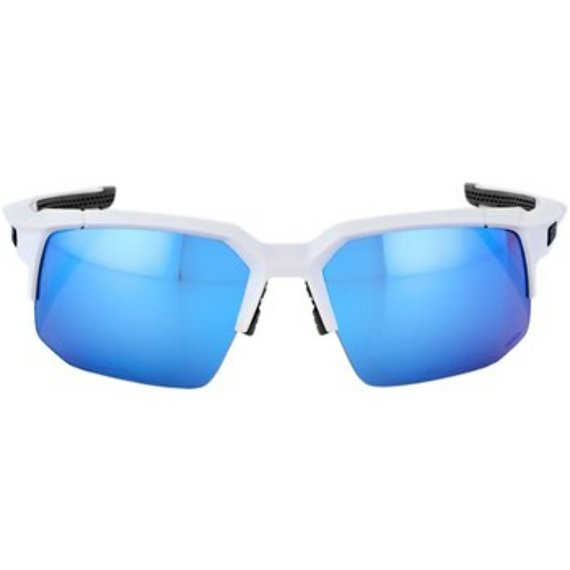 100% Speedcoupe (MTB) Sportbrille Matte White - HiPER Blue Multilayer Mirror Lens