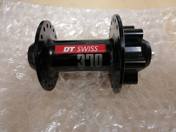 DT Swiss Front Hub 370 Disc 6-b 36h Black
