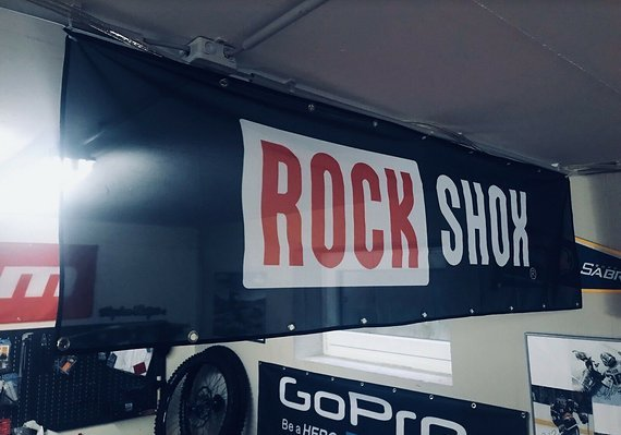 RockShox Werbebanner, Flagge, Transparent - NEU