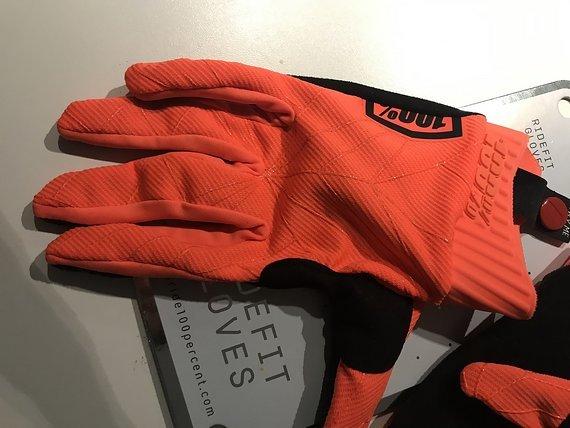 100% NEU / UNGETRAGEN / 100% Ridefit Handschuh - Orange/Schwarz