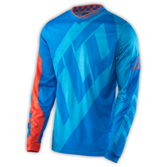 Troy Lee Designs GP JERSEY neu! QUEST CYAN/ORANGE Gr. S
