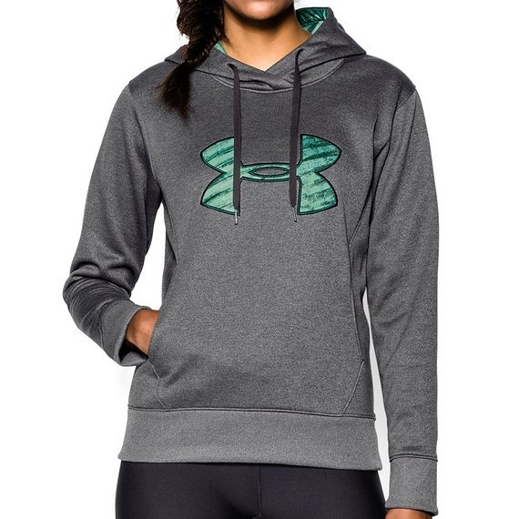 Under Armour Damen Fitness Sweatshirt Big Logo Applique Hoddie