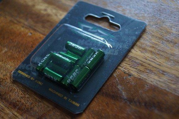 Kcnc Endkappen+Quetschhülsen, grün