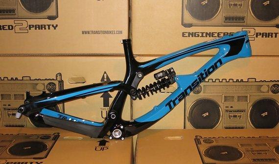 Transition Bikes TR11 Rahmenkit inkl.Fox DHX2 Coil Carbon - Größe XL