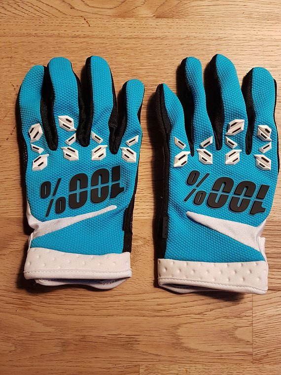 100 % Airmatic Gloves blue L