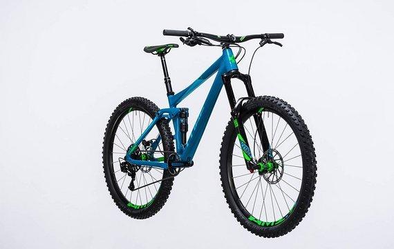Cube STEREO 140 HPA SL 27.5 Mountainbike 2017 blue/green