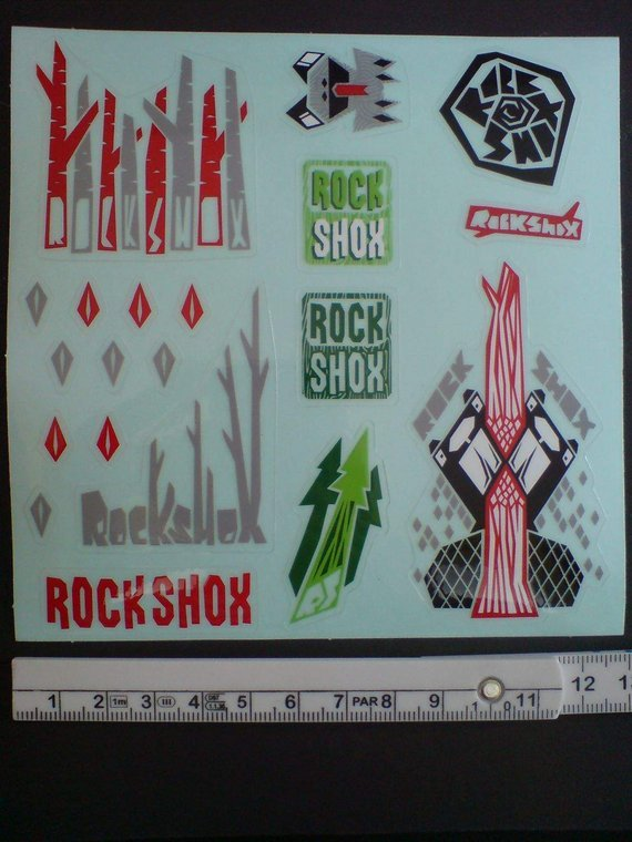 RockShox Stickerbogen, Aufkleber-Set, NEU