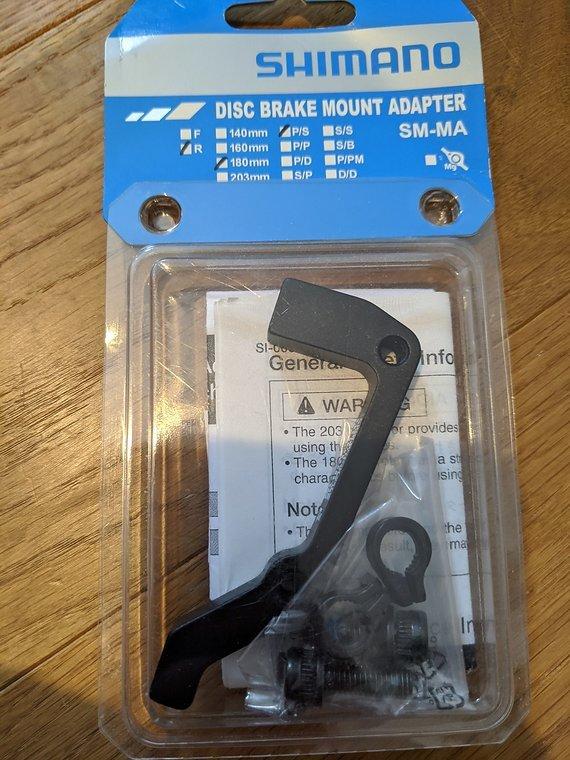 Shimano Scheibenbremsen Adapter SM-MA 180mm IS/PM *neu