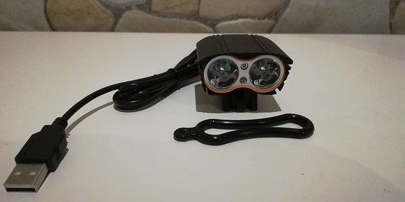 Milkiray Bikelampe 2 LED  USB Anschluss neu