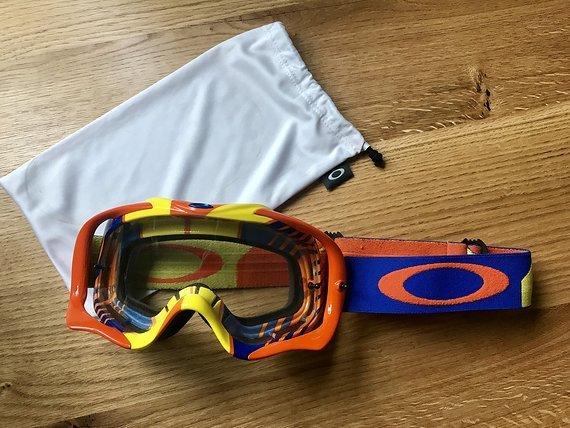 Oakley Crowbar MX Goggle Orange/Blau - wie NEU!