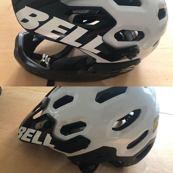 Bell Super 2R In L 58-62Cm Bell Super 2R 58-62cm mit Kinnteil und Goggle