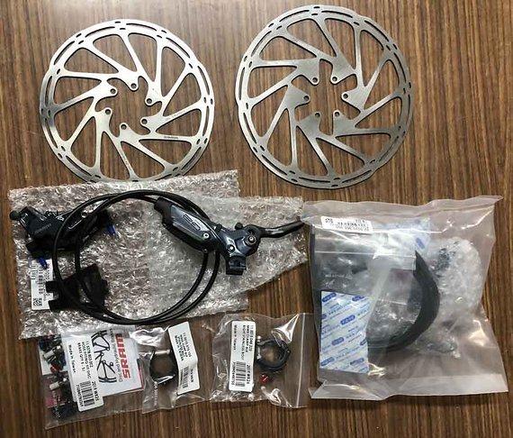 SRAM G2 Ultimate Carbon + Bremsscheiben 200/180 - NEU