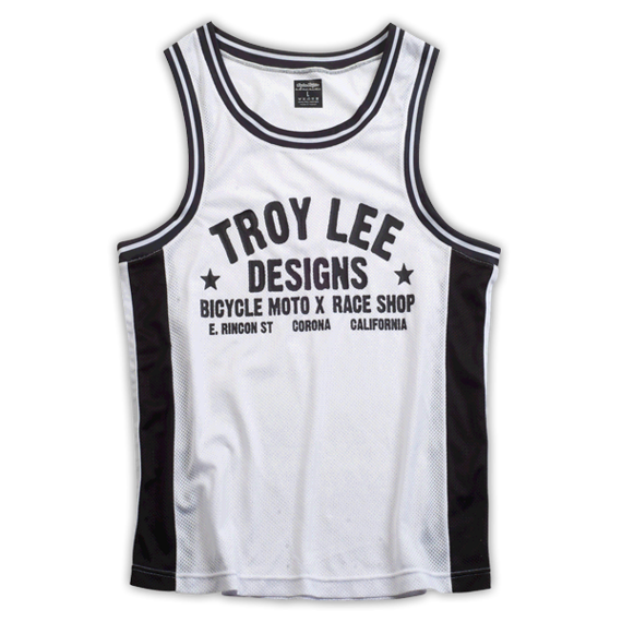 Troy Lee Designs TORQUE TANK WHITE/BLACK Gr. XL