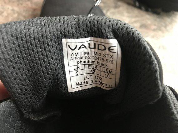 Vaude MTB Schuhe Tsali AM Mid STX phantom black Gr.43
