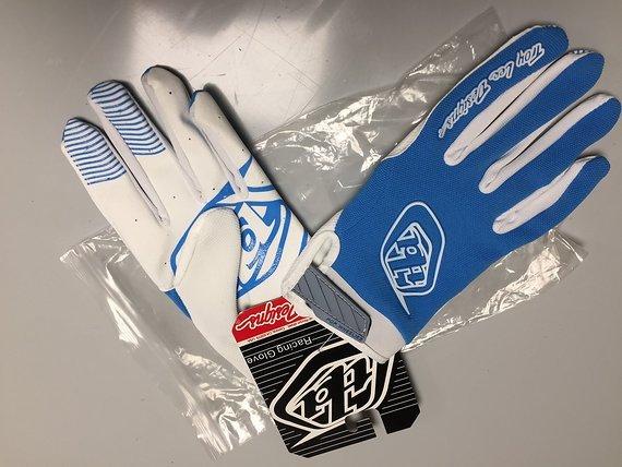 Troy Lee Designs AIR Handschuhe Gr.L blau weiss TLD
