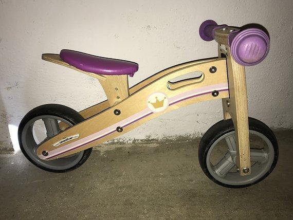 """Bikestar Laufrad / Dreirad aus Holz """"kleine Prinzessin"""""""