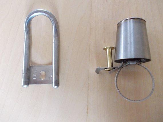 King Cage Titan NOS Titanglocke Ti Shot Glass Bar Bell und Flaschenöffner/ No Chris King