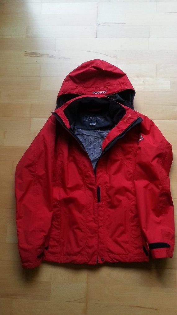 Schöffel Damen Regenjacke Funktionsjacke Outdoorjacke Gr. 42 - Rot - wie neu -