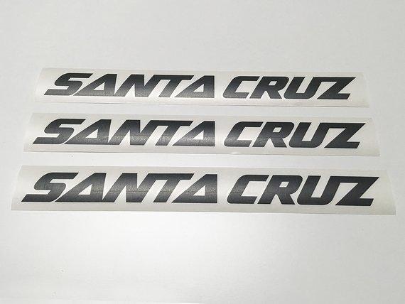 Santa Cruz DECALS SCHWARZ MATT BULLIT AUFKLEBER STICKER HOCHLEISTUNGFOLIE