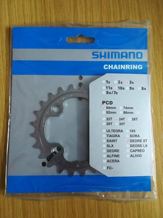 Shimano Deore XT Kettenblätter 2er-Pack 32T + 24T FC-M780 / FC-T780 / FC-T781 10-fach
