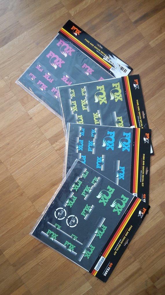 Fox NEU! Fox Heritage Decal Kit Fork and Shock - Sticker-Kit für Gabel und Dämpfer