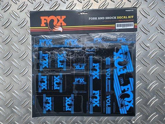 Fox Sticker 2016 Decal Set AM Heritage für Federgabel & Dämpfer Blau