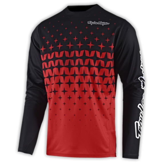 "Troy Lee Designs SPRINT JERSEY ""Gr.M"" MEGABURST RED / BLACK"