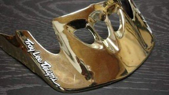 Troy Lee Designs TroyLeeDesigns Helmschild gold NEU