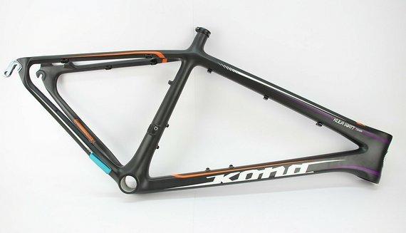 """Kona KULA WATT Team 26 Zoll Carbon MTB Rahmen //NEU// 18"""" BB30 Tapered 9 x 135mm"""