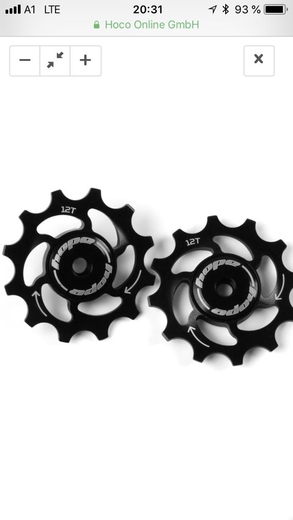 Hope Jockey wheels 10T schwarz, Keramiklager