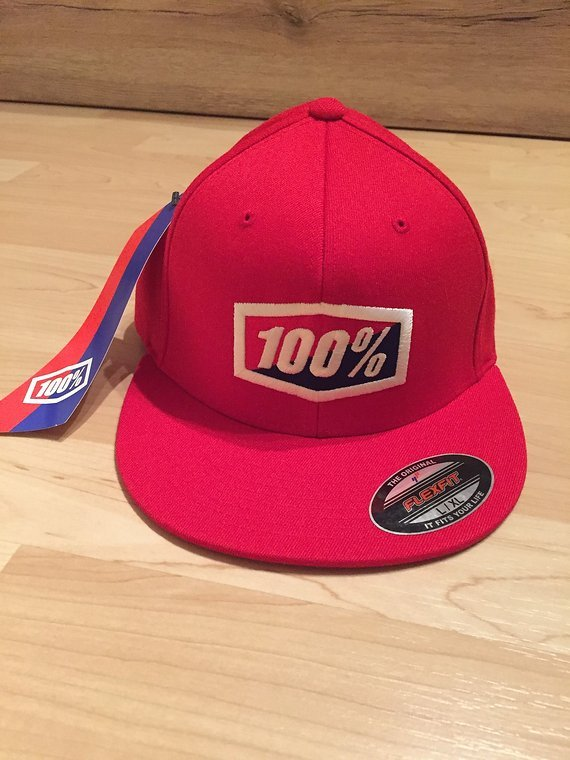 100% ICON Flexfit Cap rot L/XL