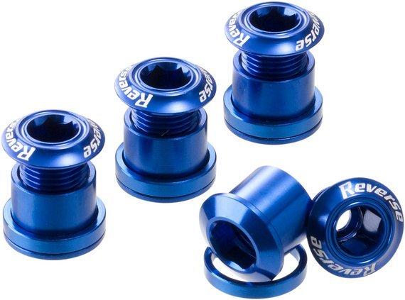 Reverse Components Kettenblattschrauben dunkelblau *VERSANDKOSTENFREI*