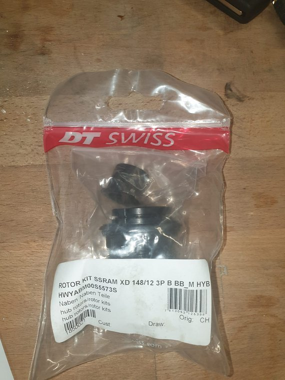 DT Swiss 3-Klinken Rotor-Umrüstkit SRAM XD für XX1/X01 - E-MTB (Hybrid) - HWYABM00S5573S   Hybrid DT SWISS Umbaukit Rotor von Shimano auf Sram XD Boost Kit Original Rotor KIT SSRAM XD 148 / 12