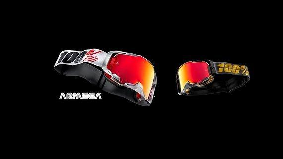 100% Armega Goggle anti fog hiper mirror lens